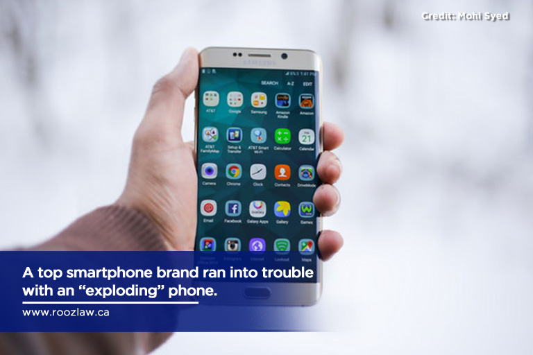 "A top smartphone brand ran into trouble with an ""exploding"" phone."