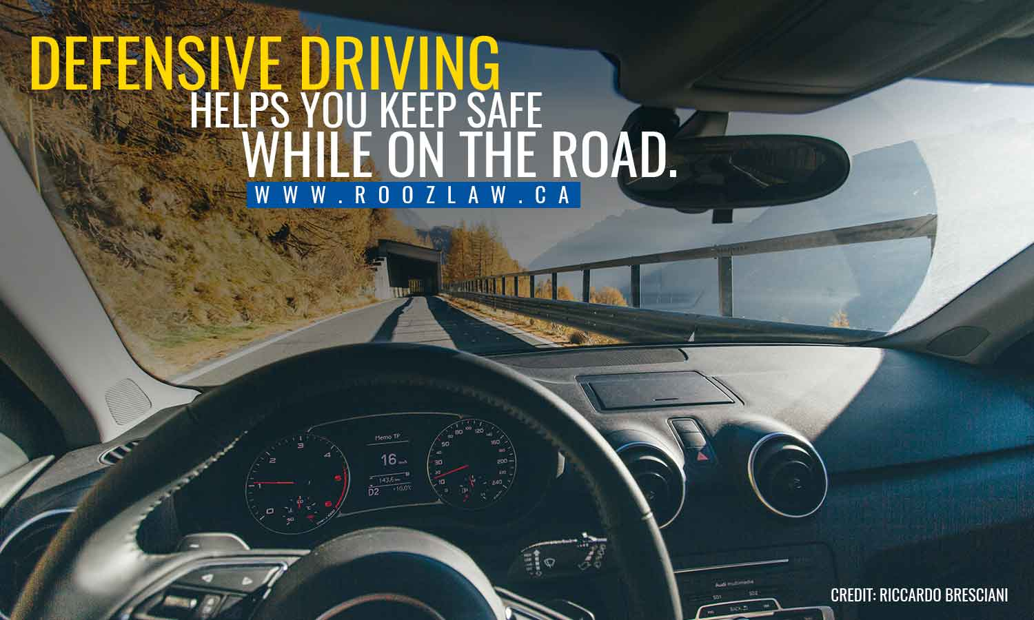 Defensive driving helps you keep safe while on the road