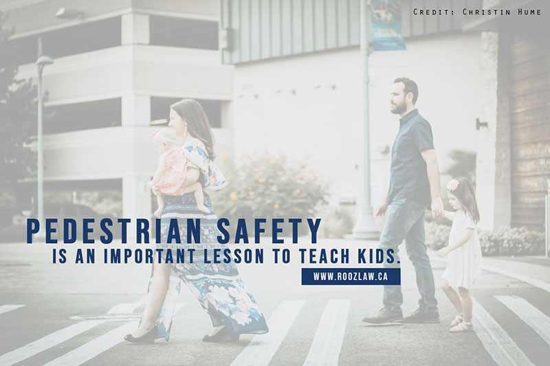 Pedestrian safety is an important lesson to teach kids.