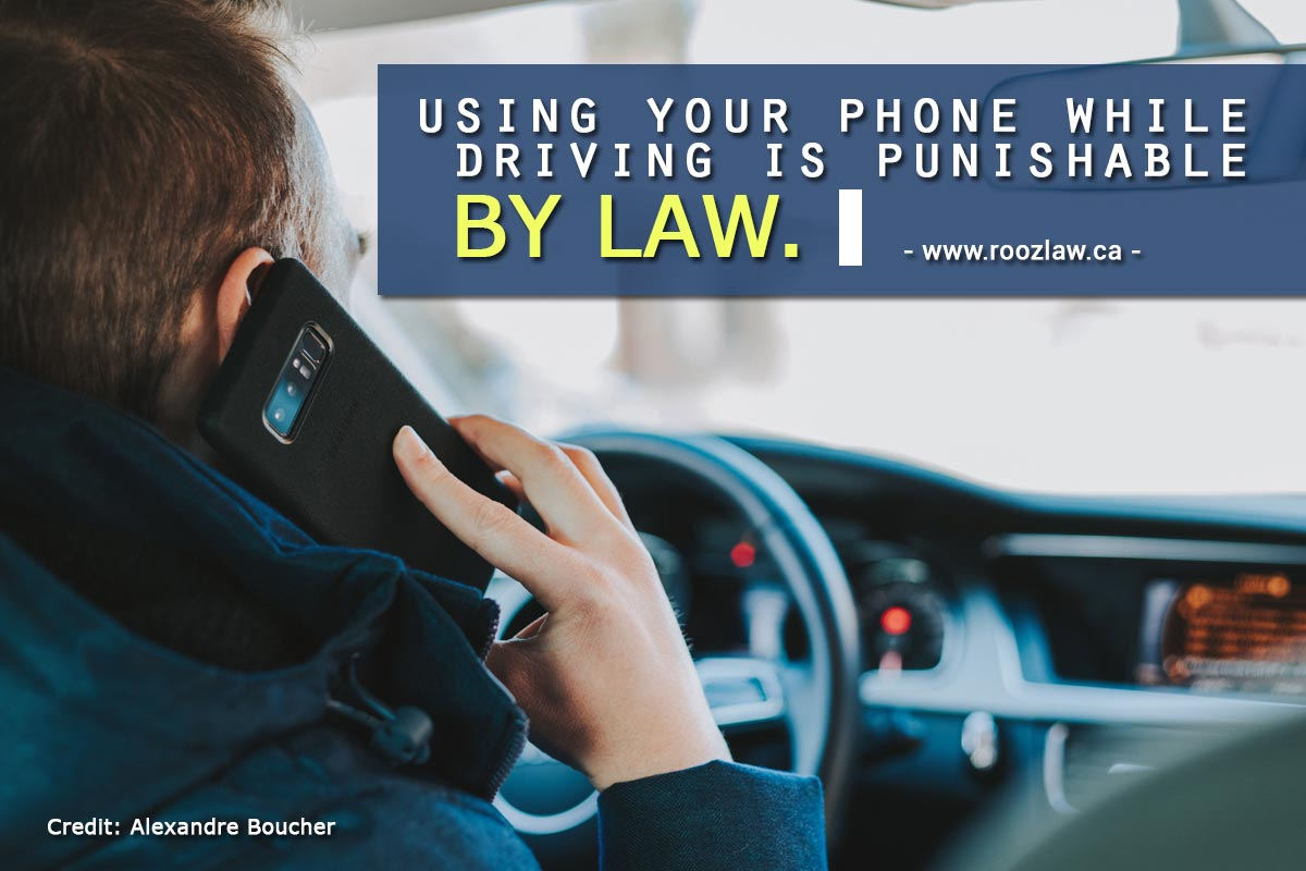 Using phone while driving punishable by law