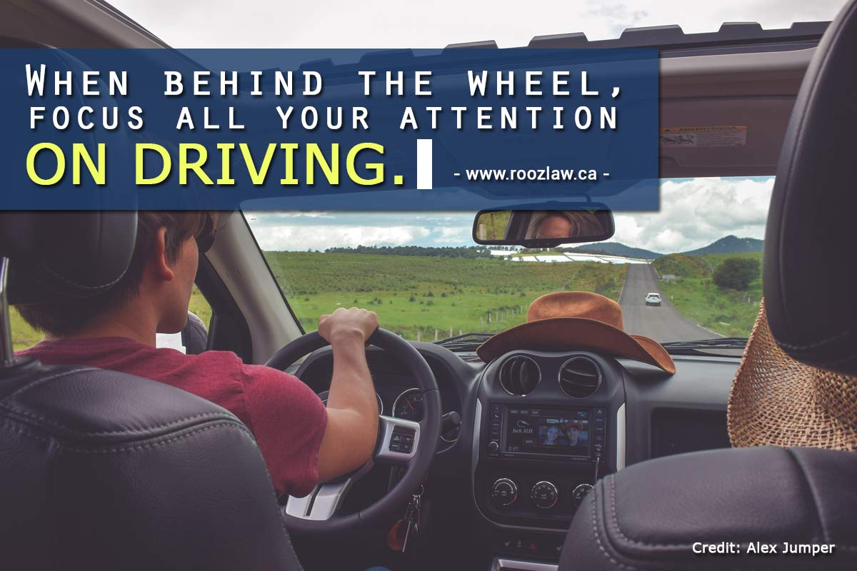 focus all your attention on driving