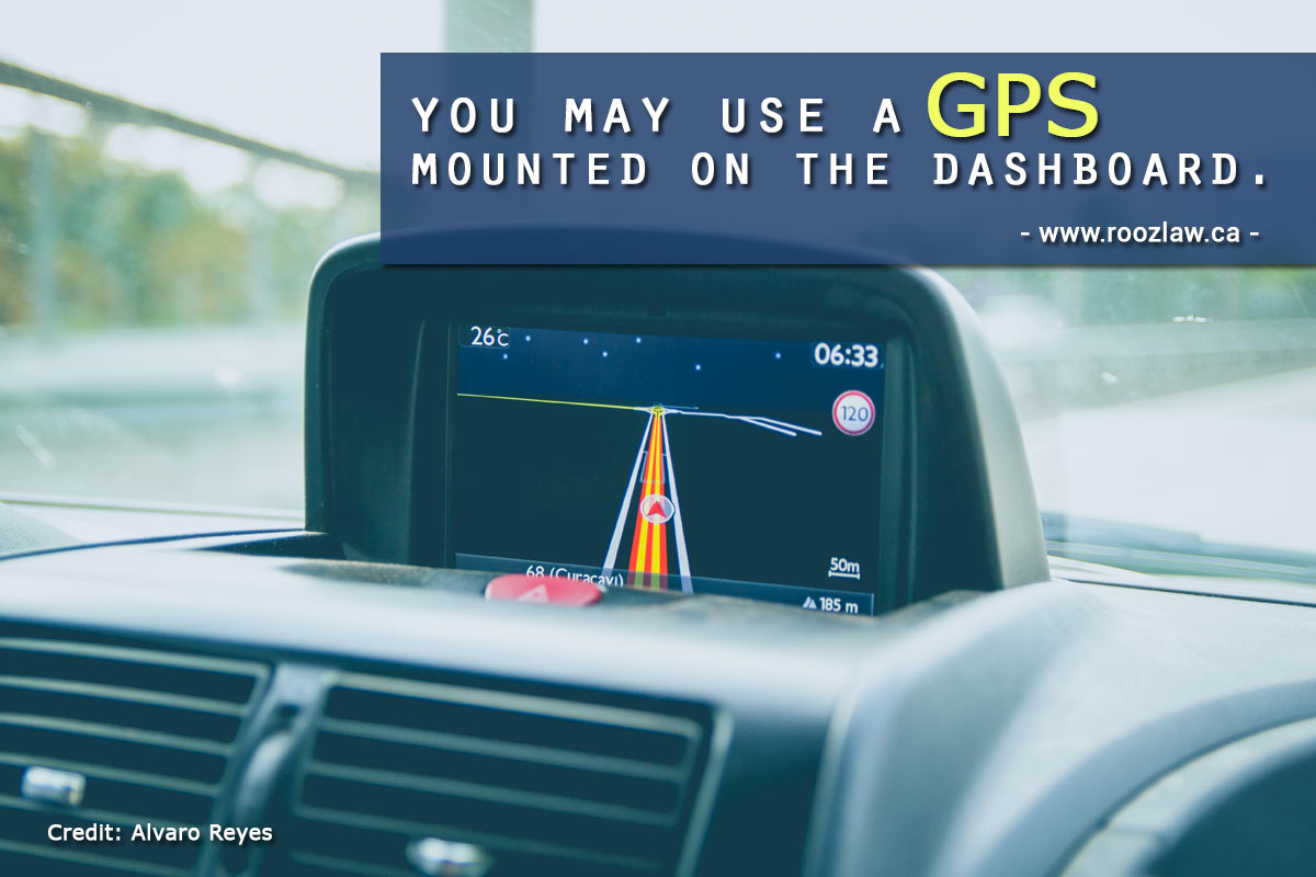 use a GPS mounted dashboard.