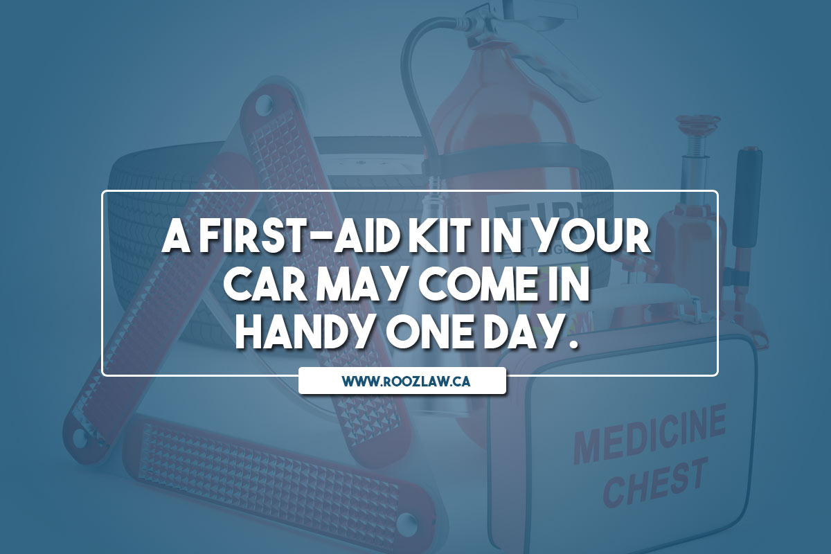 A first-aid kit in your car may come in handy one day.