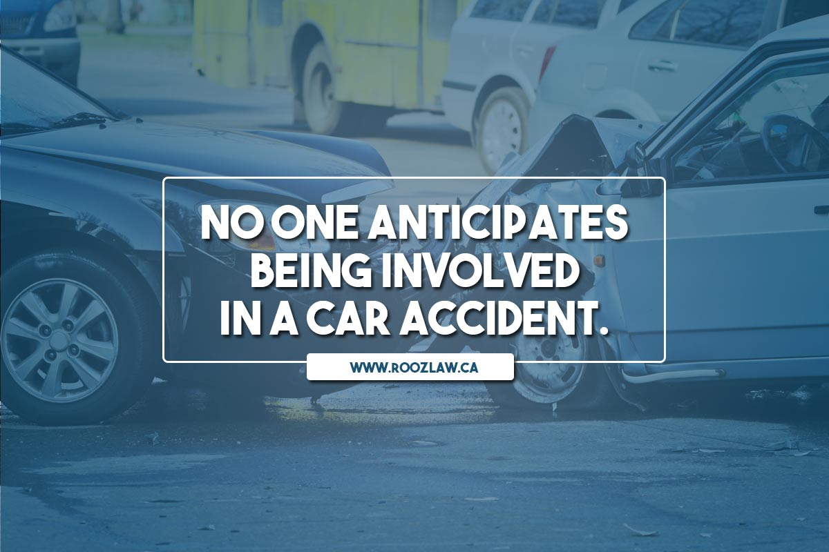 No one anticipates being involved in a car accident.