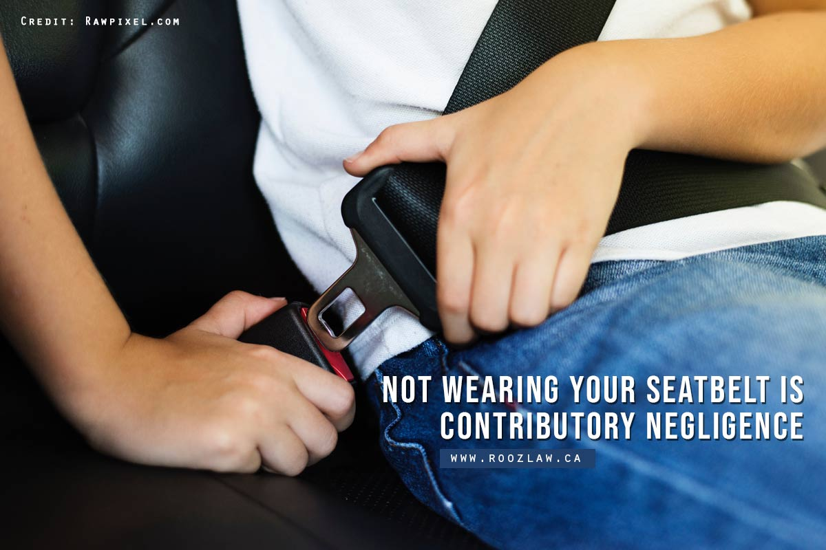 Not wearing your seatbelt is contributory negligence