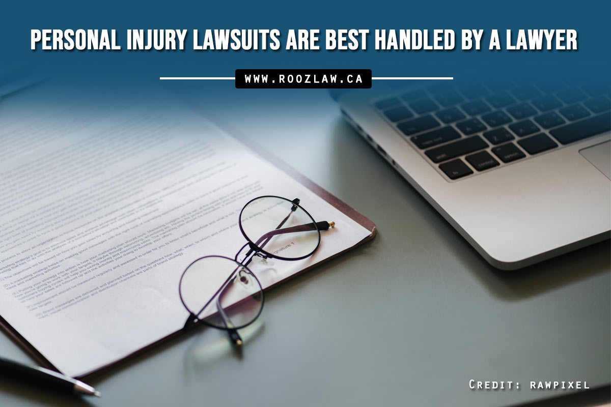 Personal injury lawsuits are best handled by a lawyer