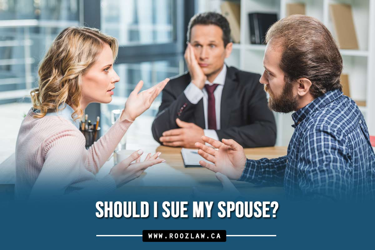 Should I sue my spouse?