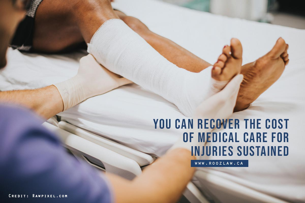 You can recover the cost of medical care for injuries sustained