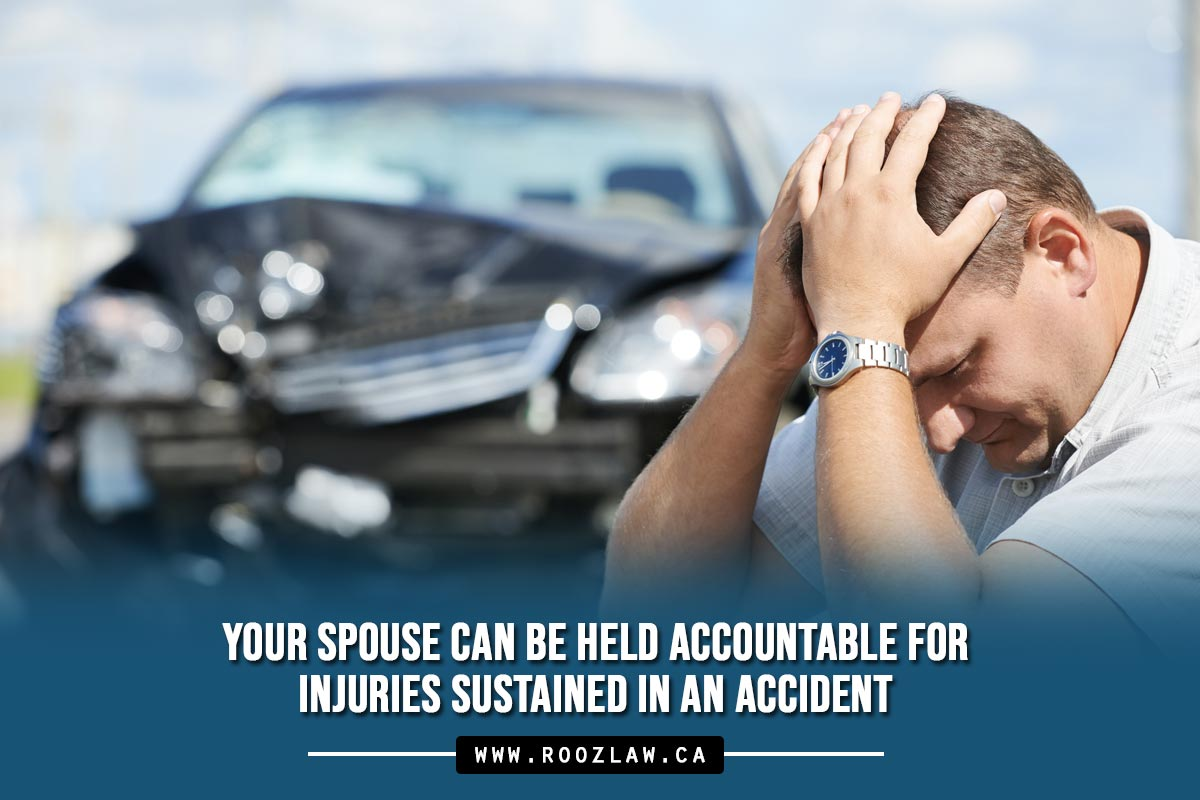 Your spouse can be held accountable for injuries sustained in an accident